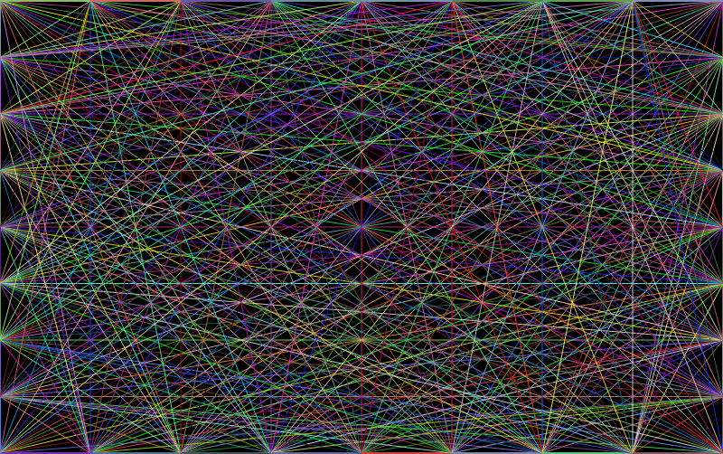 Prismatic Network Background