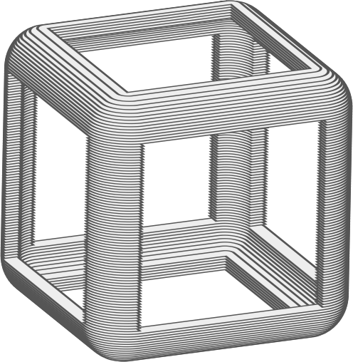 Animated Hollow Cube