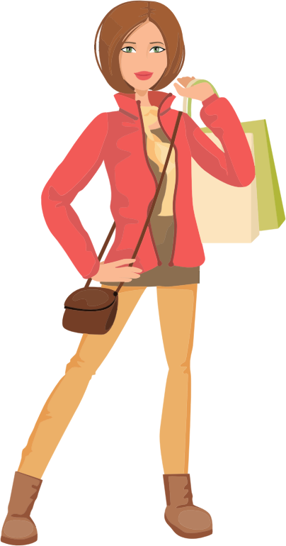 Shopping Woman Illustration