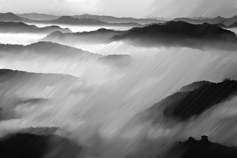 halftone clouds