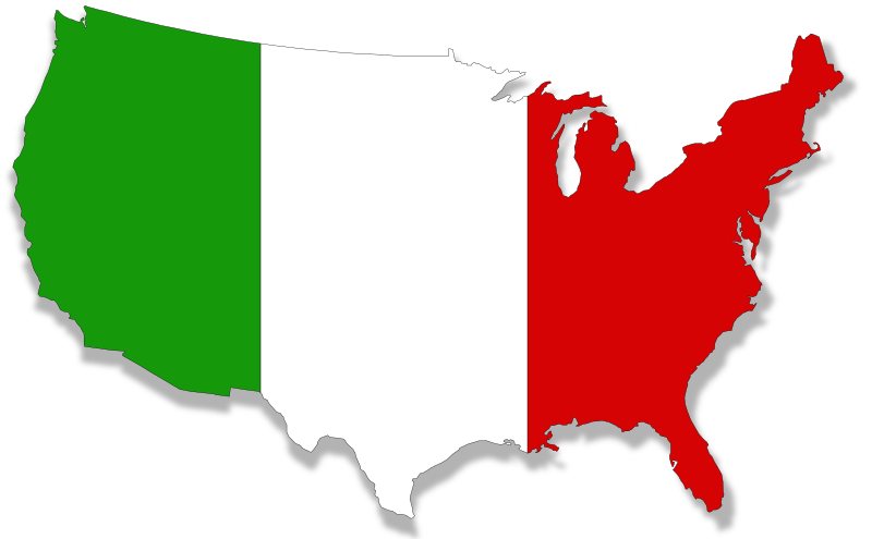US-Italy flag map