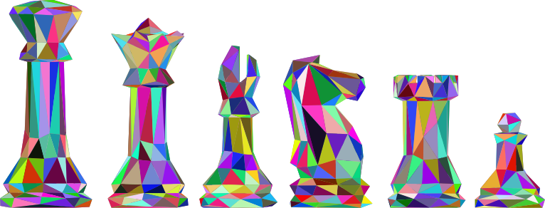 Low Poly Chess Pieces Prismatic