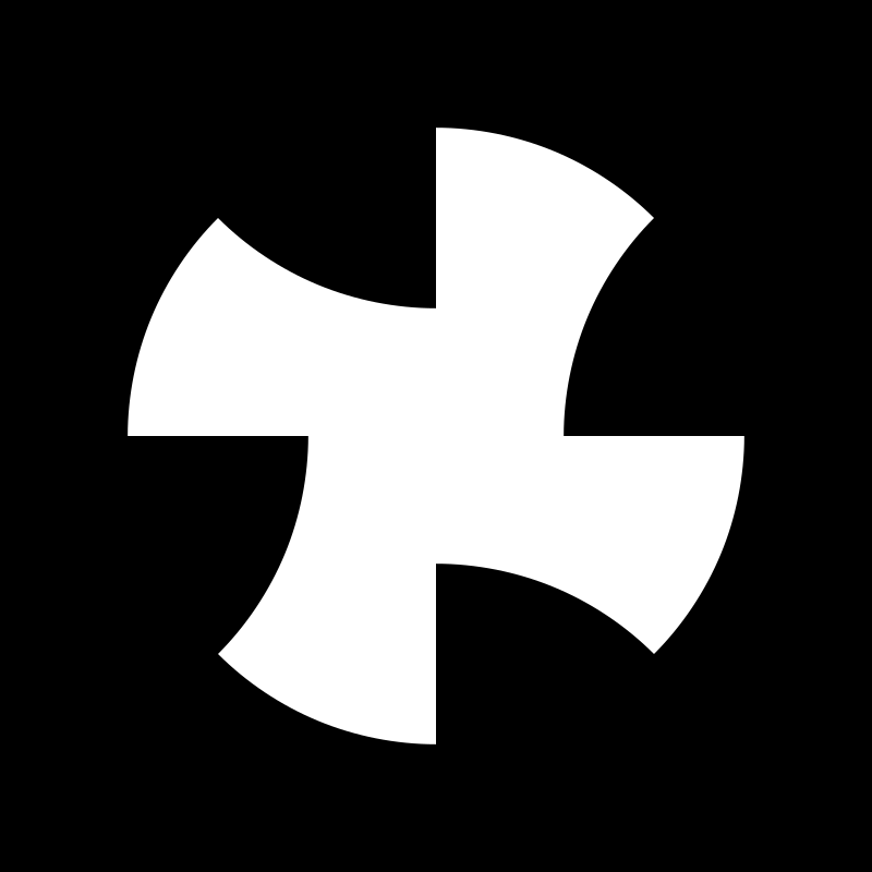 wave-dot cross