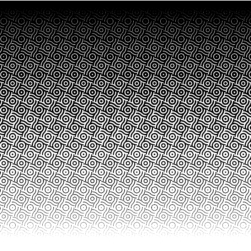 wave-dot halftone template