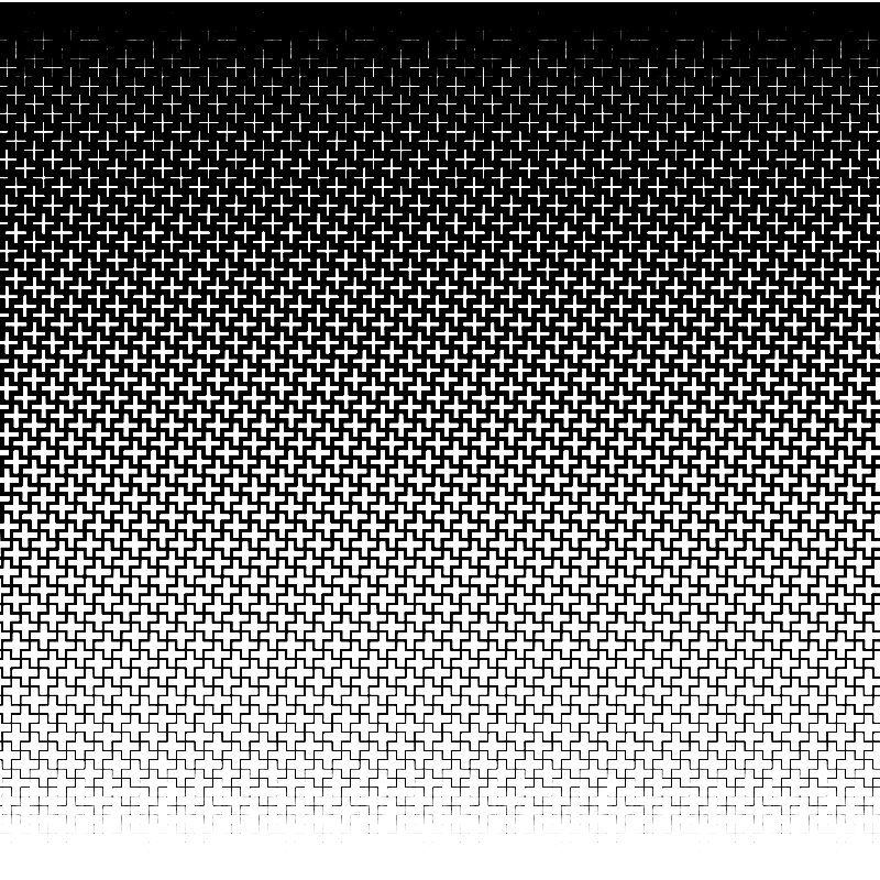cross halftone template