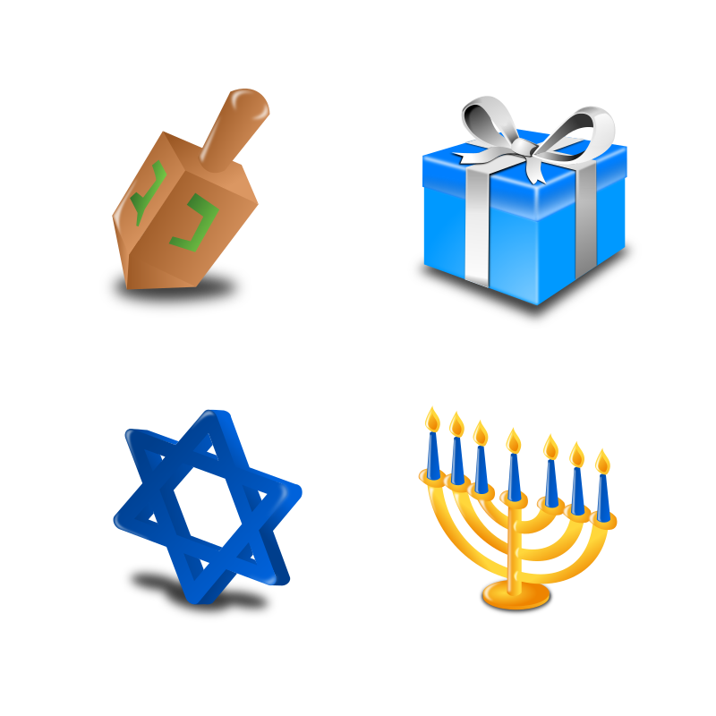 Hannukah Icon Set Collection