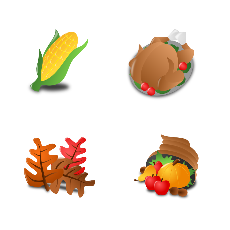 Thankgiving Icon Set Collection