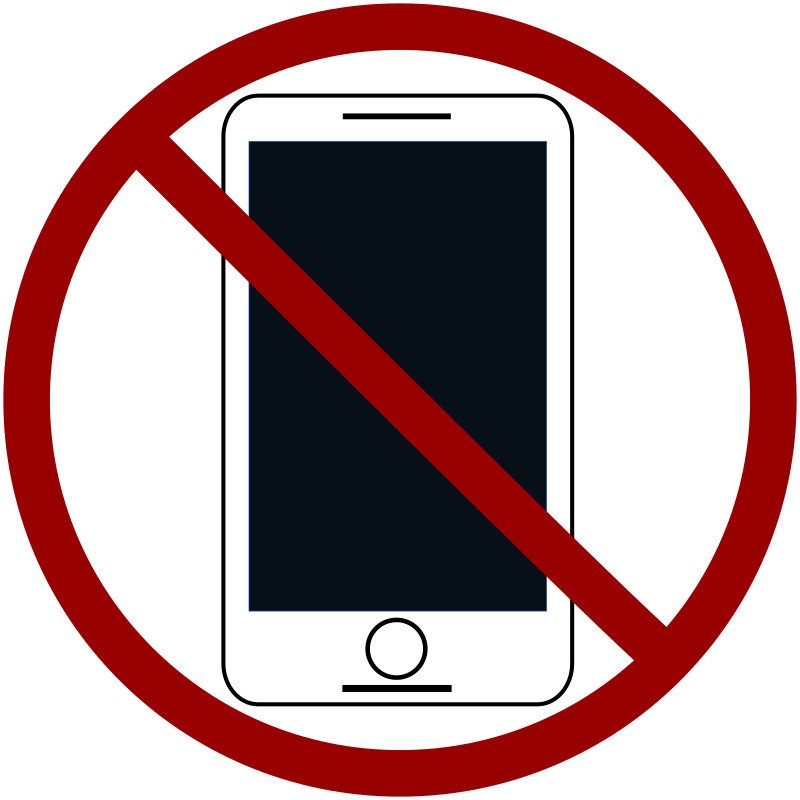 No Cell Phones Free Clipart Download - No Smartphone Icon