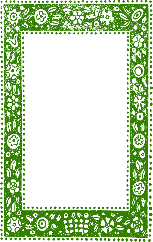 Green Ethnic Nature Frame