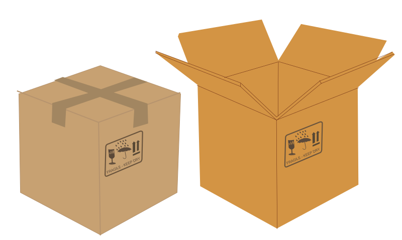 Open and closed boxes