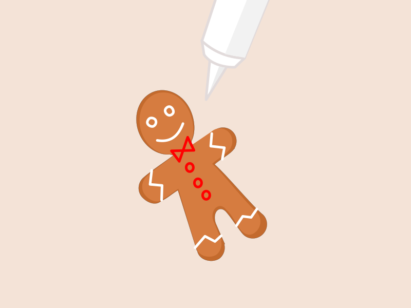 Animation: Icing the gingerbread man