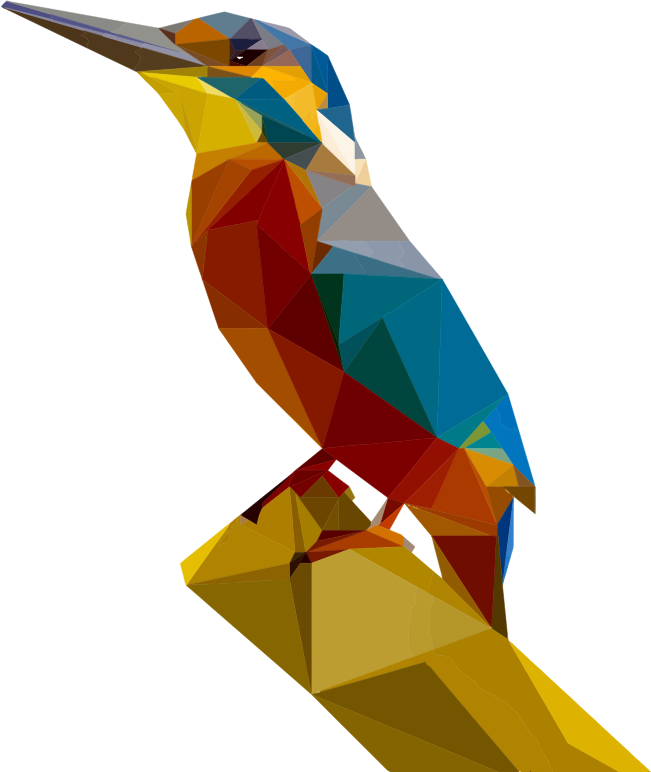 Low Poly Kingfisher