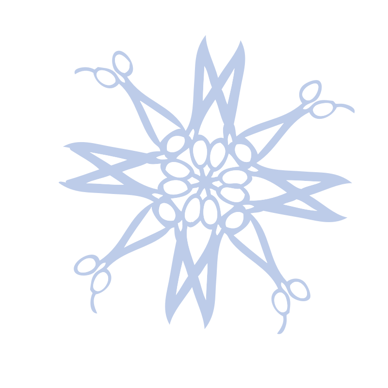 Hair Cutting Scissors Blue Snow Flake