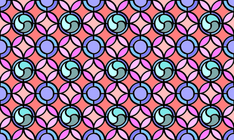 Leaded glass background (colour 2)