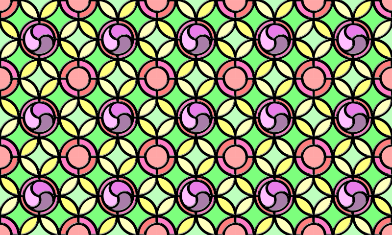 Leaded glass background (colour 3)