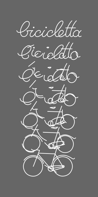 bicycle assembled from script writing 3