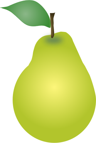 Pear SVG, Pear clipart
