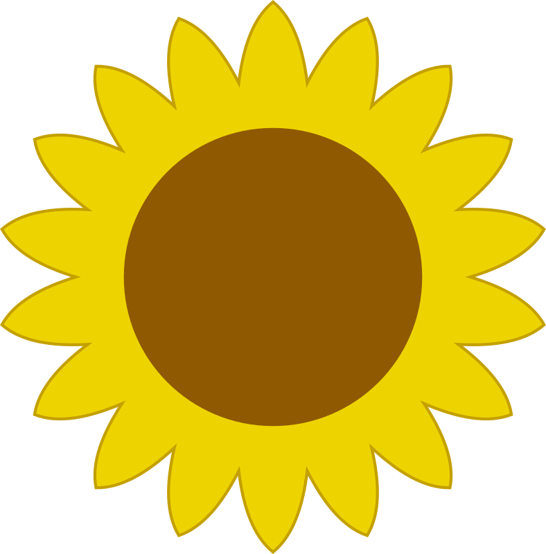 Simple sunflower