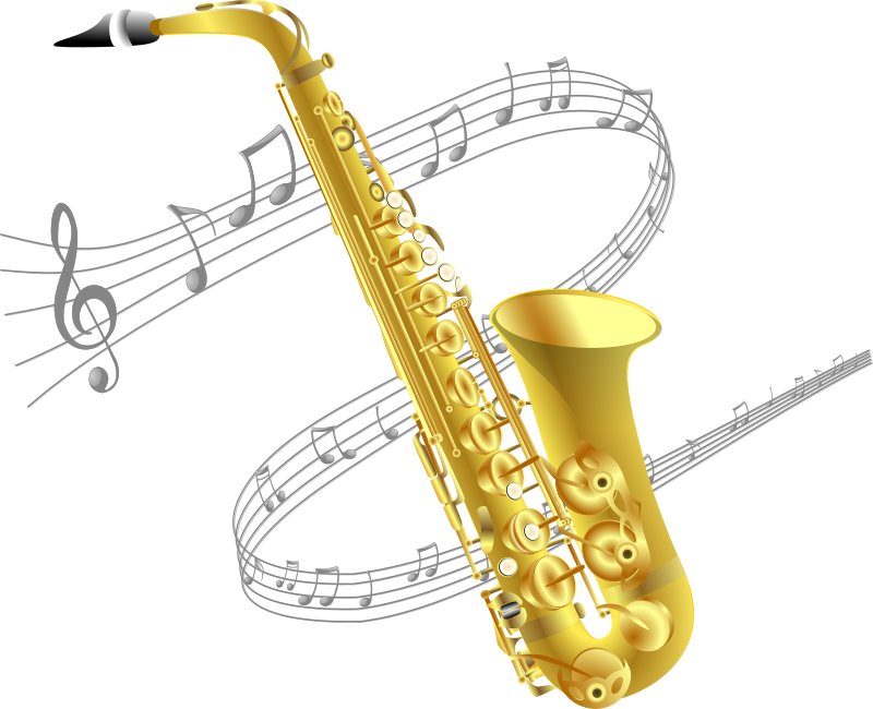 Saxophone with music background