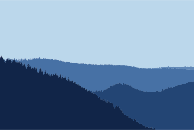 Simple Scenic Forest And Mountains