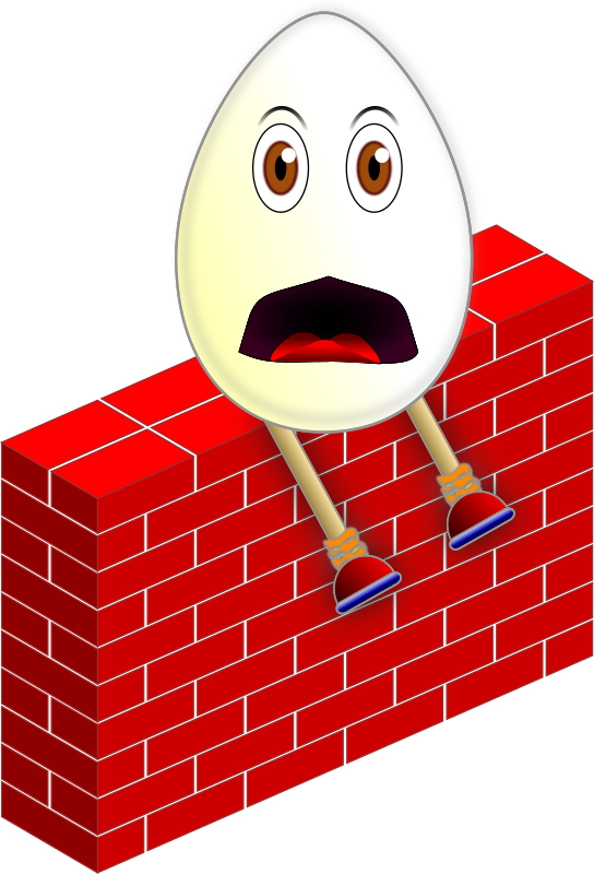Humpty Dumpty on a Wall