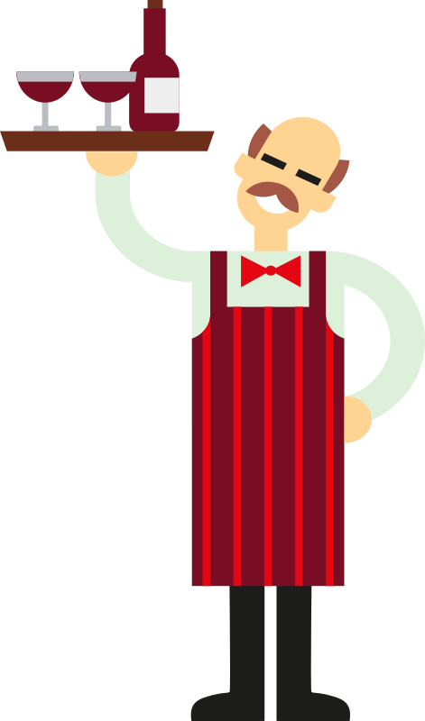Waiter with Wine