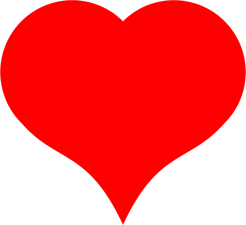 A Heart made of semicircle and Bezier curve