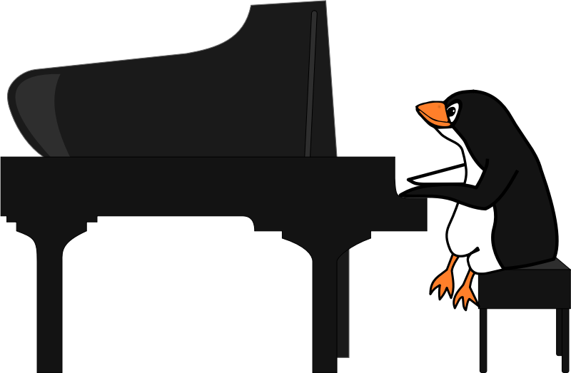 Penguin Playing Piano