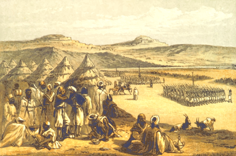 North African scene - Camp at Keren