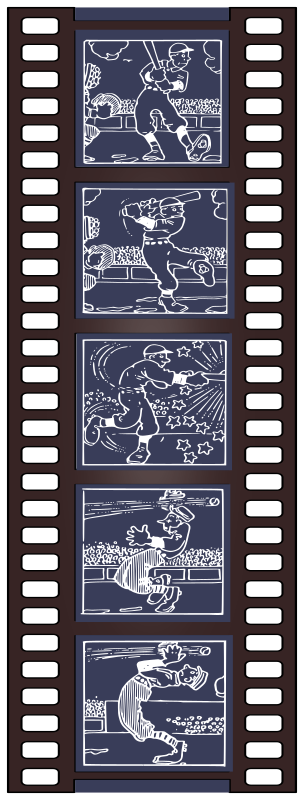 Old Cartoon Film Strip