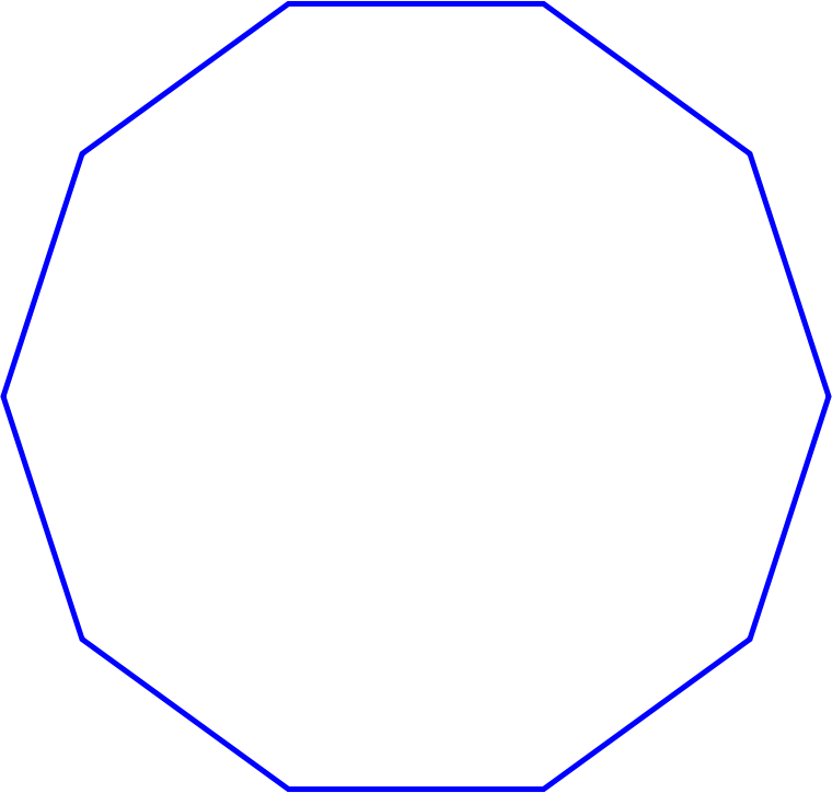 Regular decagon very simple