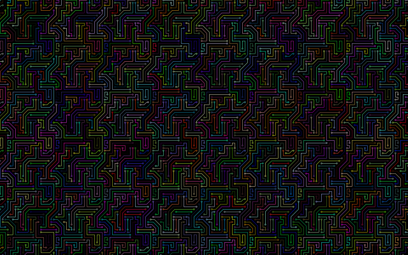 Prismatic Circuit Board Pattern