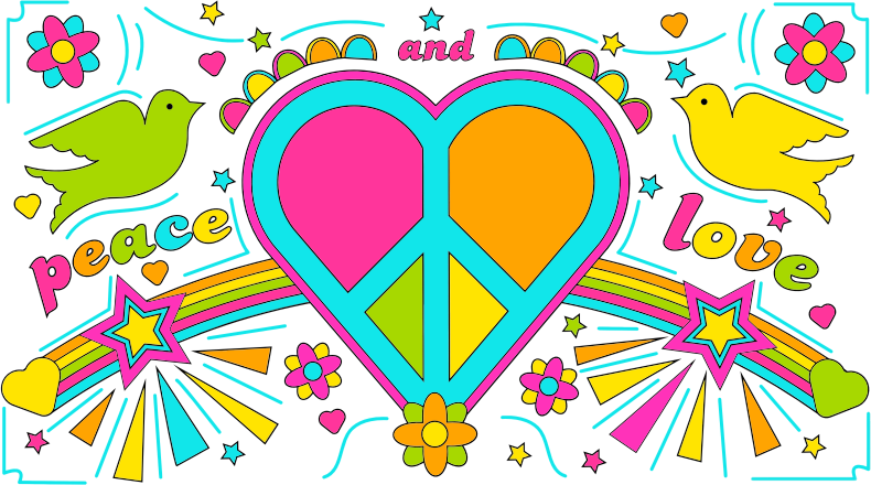 Peace And Love By David Rock Design