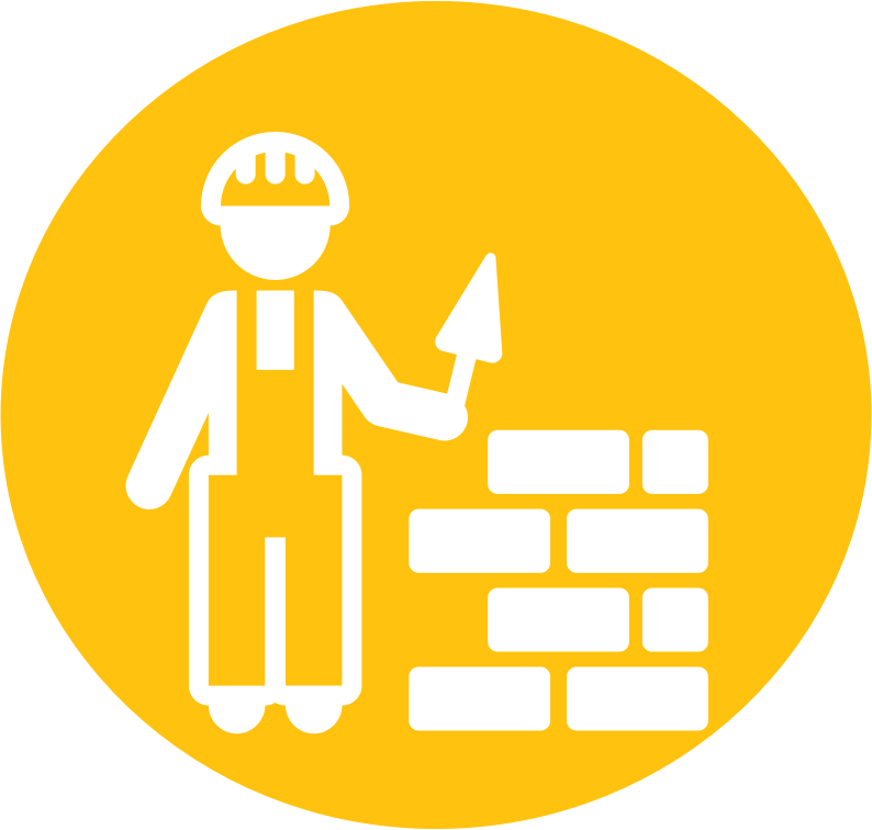 Mason Bricklayer Pictogram