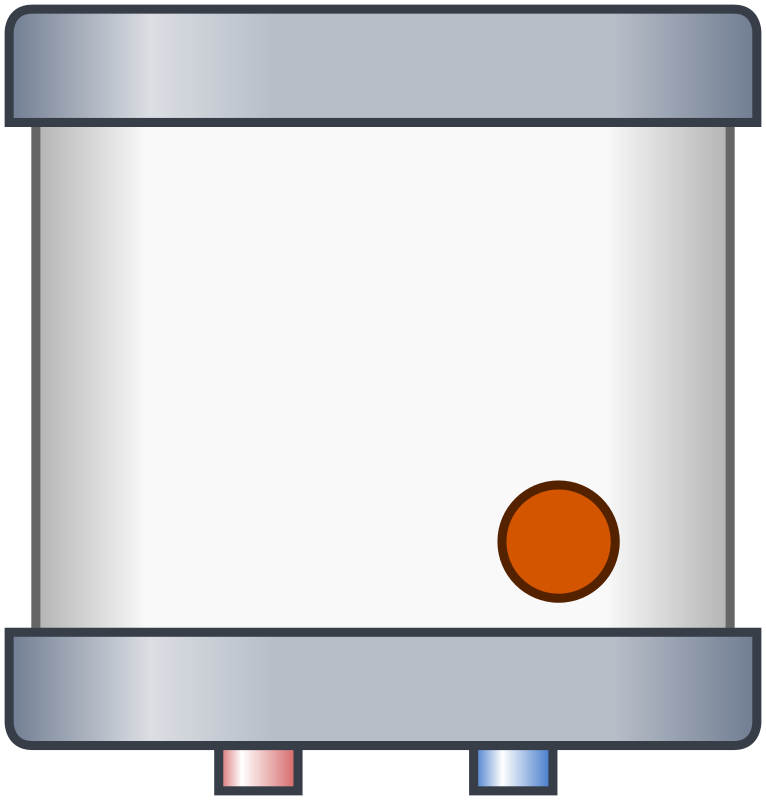 Electric water heater (on)