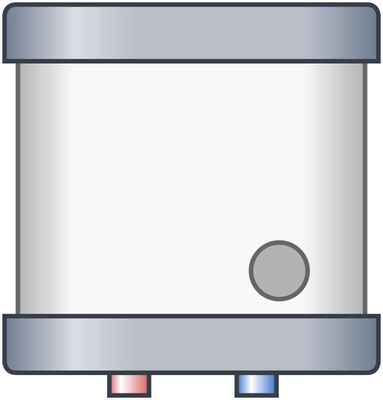 Electric water heater (off)