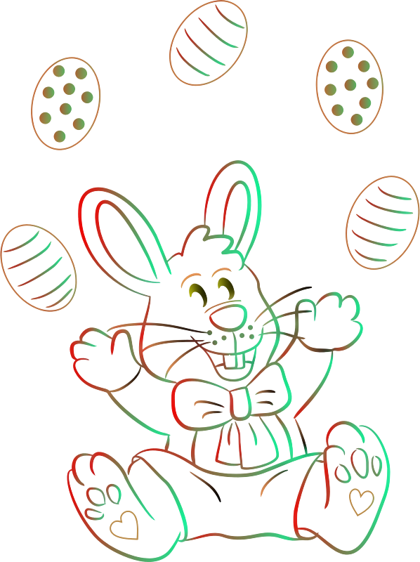 Easter bunny (colour 2)