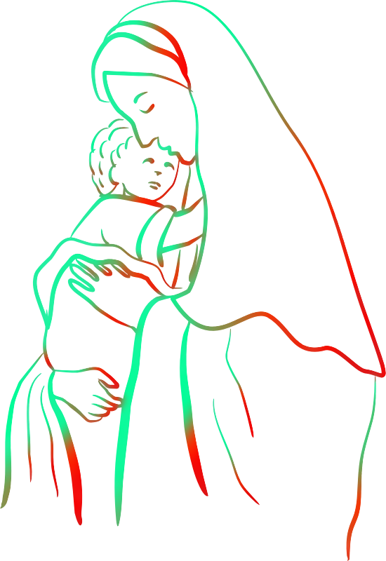 Mary with Jesus (colour 2)
