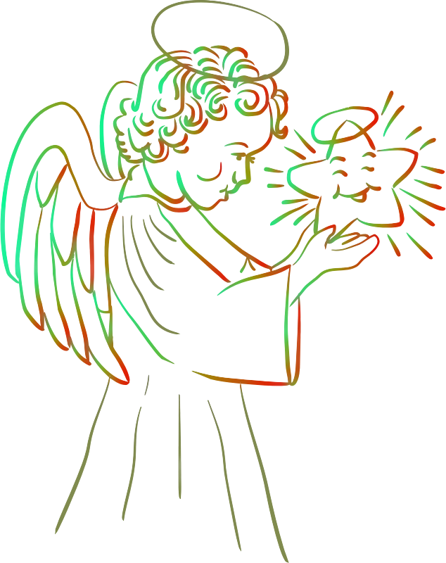 Angel with star (colour 2)