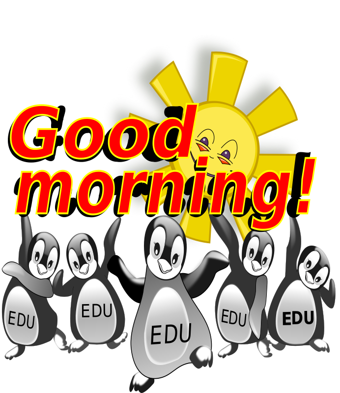 Good morning penguin