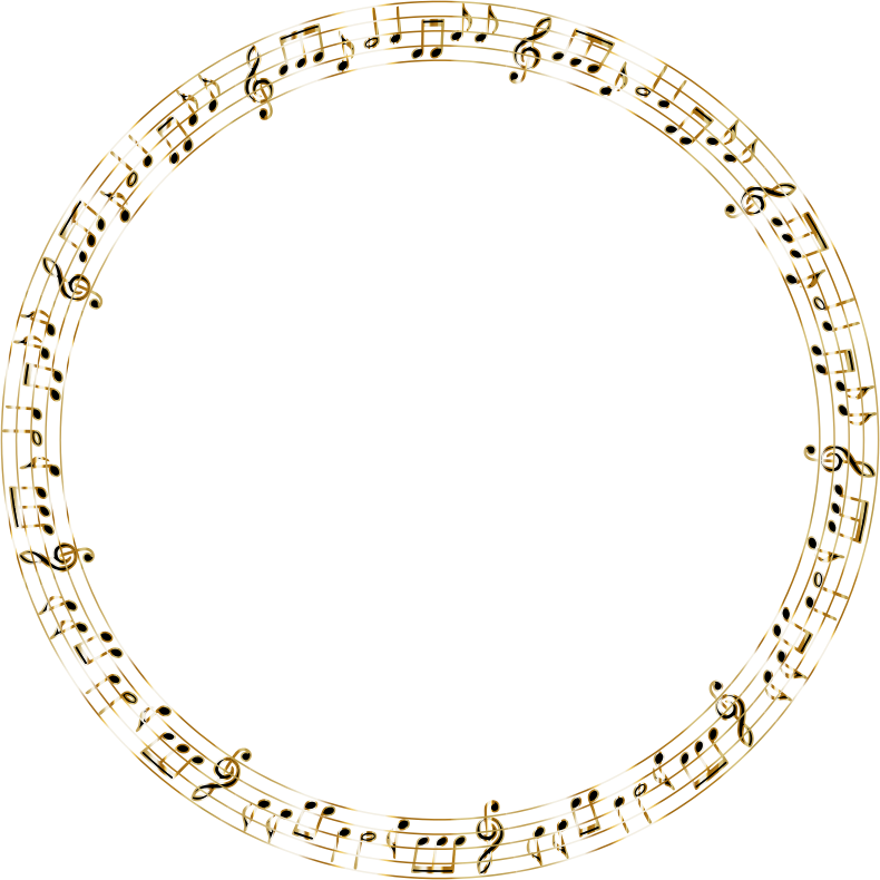 Golden Musical Circle No Background