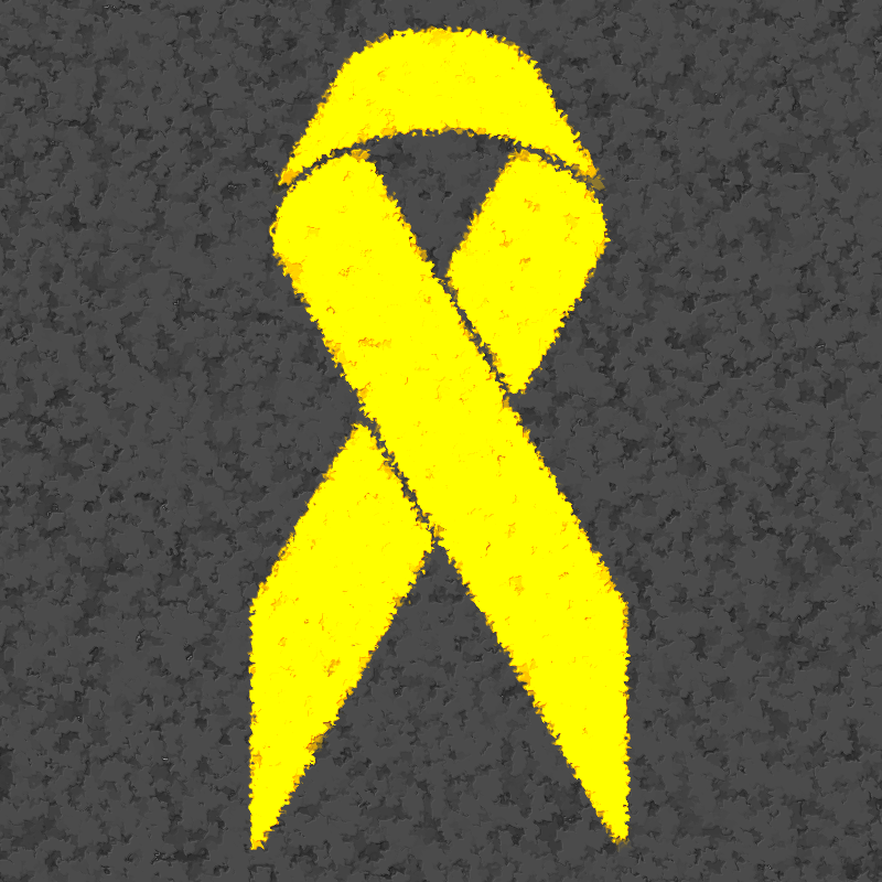 Yellow ribbon textured