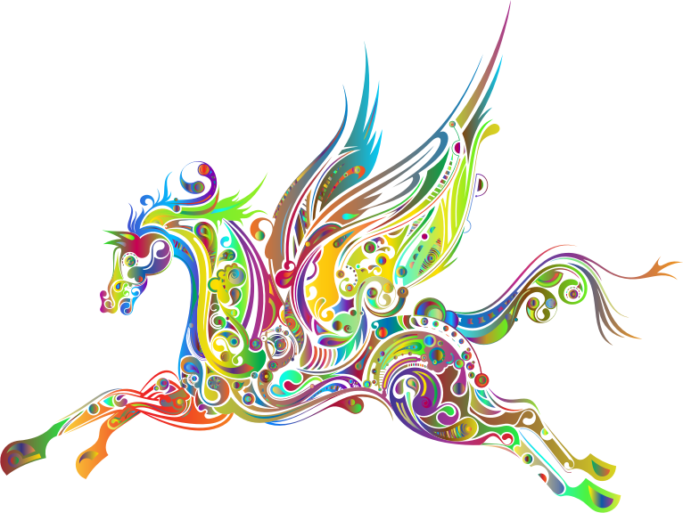Abstract Winged Horse Prismatic 2