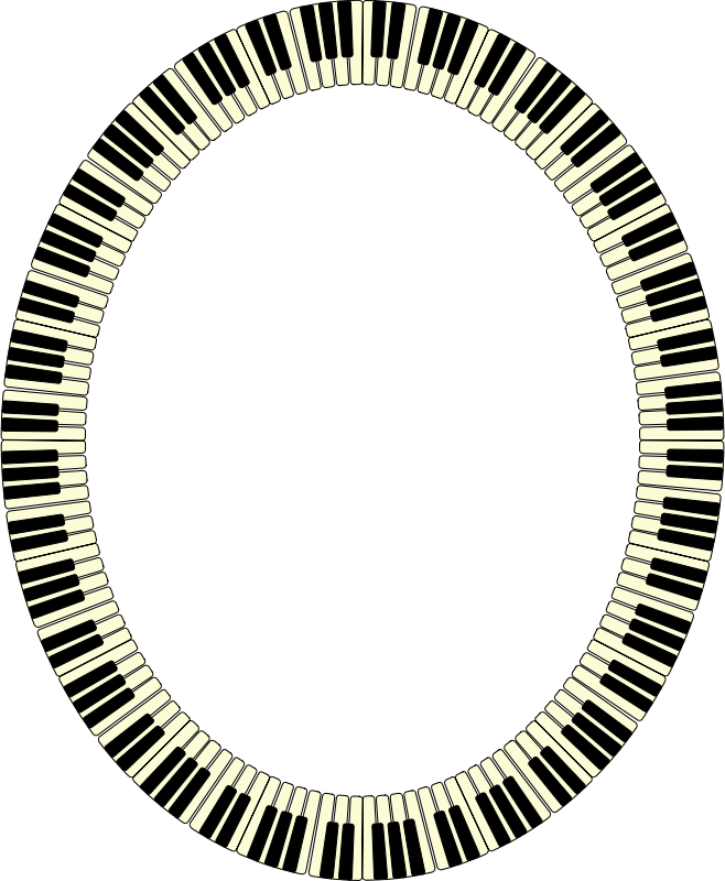 Piano keys frame (ellipse)