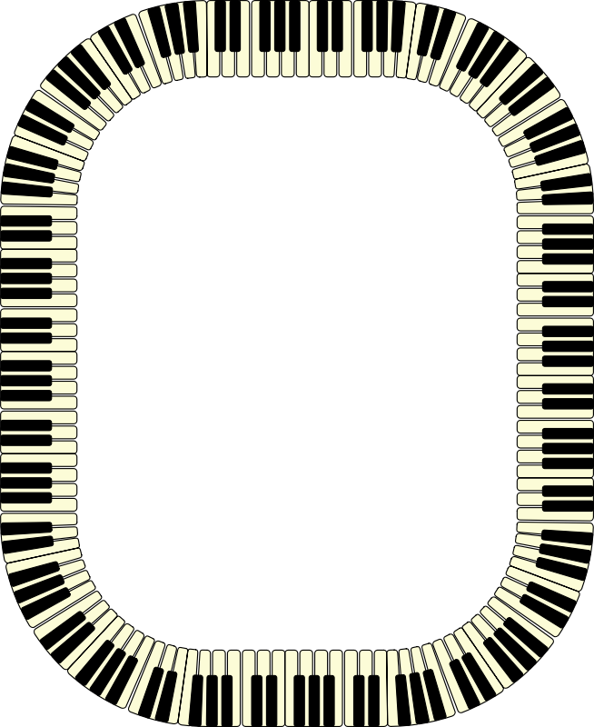 Piano keys frame (rectangle)