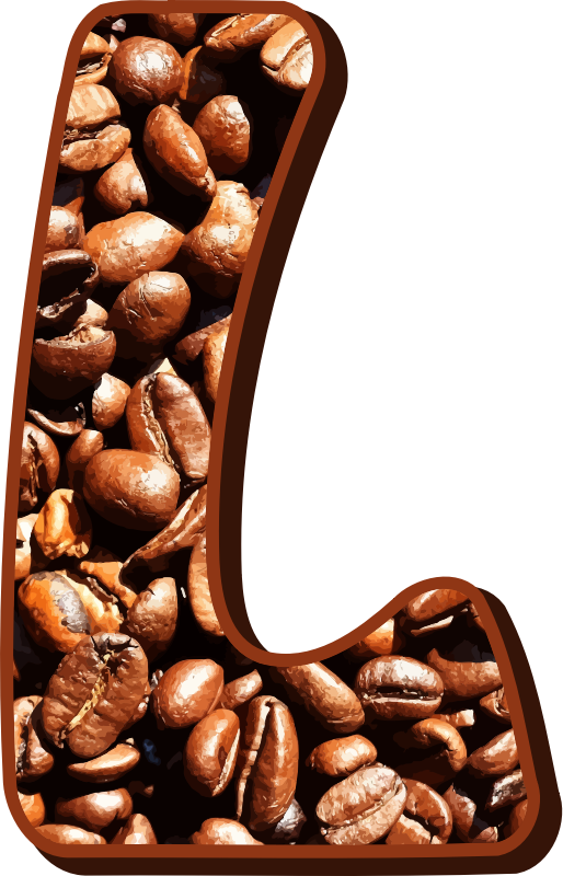 Coffee beans typography L
