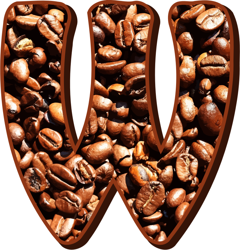 Coffee beans typography W