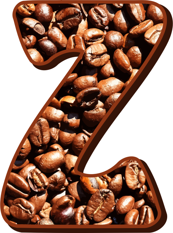 Coffee beans typography Z