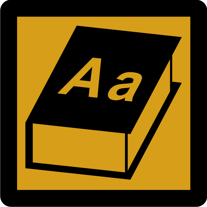 Dictionary Pictogram Icon [Umber]