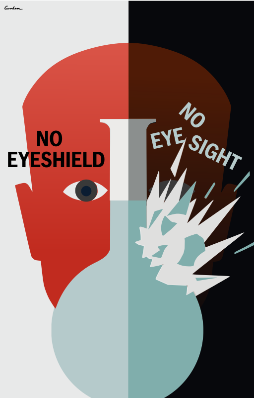 No Eyeshield - no eye sight